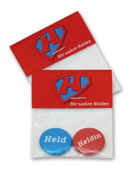 "Buttonset ""Held und Heldin"""