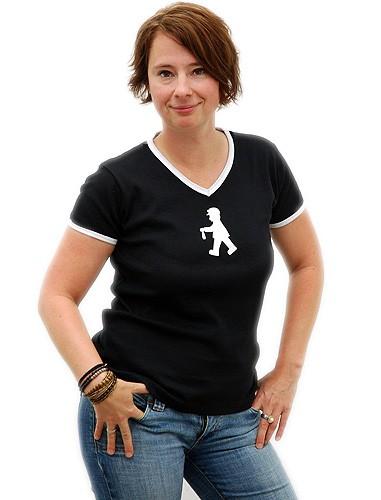"""T-Shirt """"Friederika"""" mit V-Ausschnitt"""