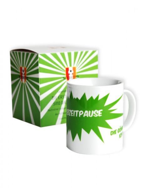 "Kaffeebecher ""Halbzeitpause"" 2er -Set"