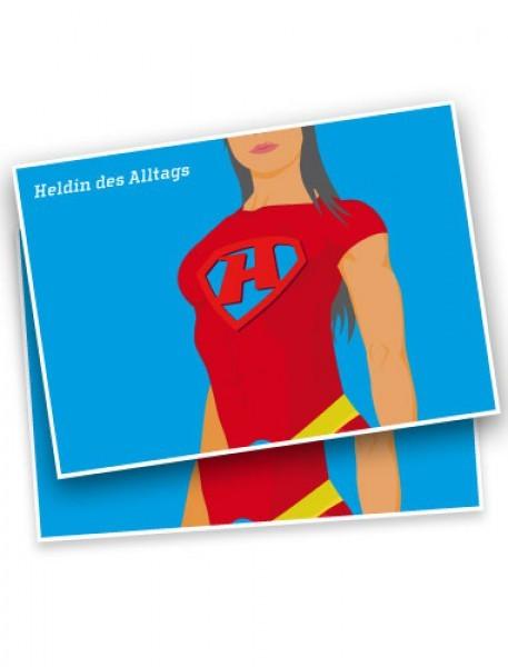 "Postkarte ""Heldin des Alltags"""