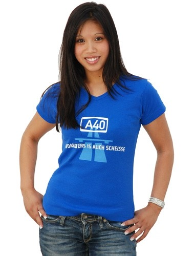 "T-Shirt ""A40 - Woanders is auch scheisse"""